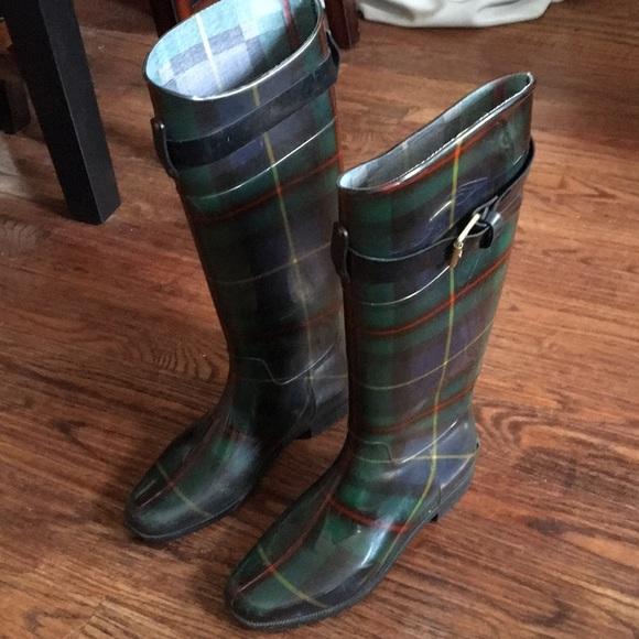 c214d87b9088 Lauren Ralph Lauren Shoes - Lauren Ralph Lauren size 7 rain boots green  plaid